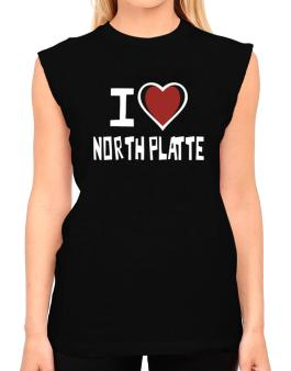 I Love North Platte T-Shirt - Sleeveless-Womens