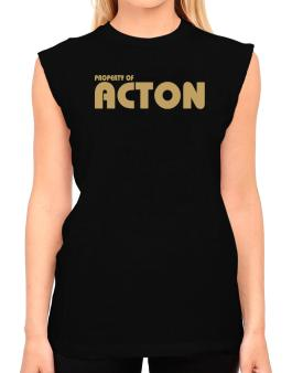 Property Of Acton T-Shirt - Sleeveless-Womens