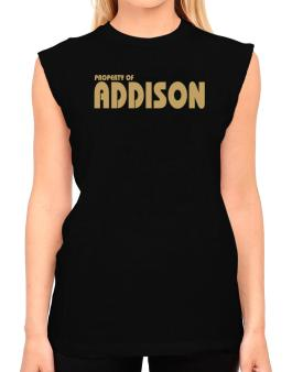 Property Of Addison T-Shirt - Sleeveless-Womens