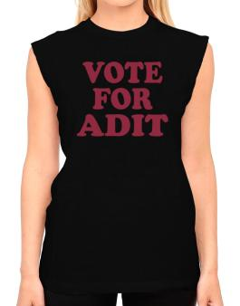 Vote For Adit T-Shirt - Sleeveless-Womens