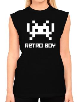 Retro Boy T-Shirt - Sleeveless-Womens