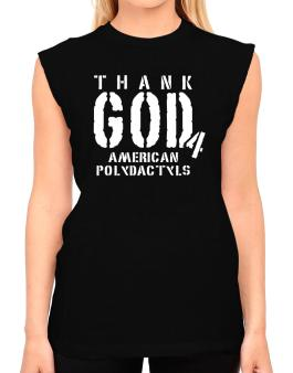 Thank God For American Polydactyls T-Shirt - Sleeveless-Womens