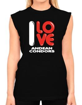 I Love Andean Condors T-Shirt - Sleeveless-Womens