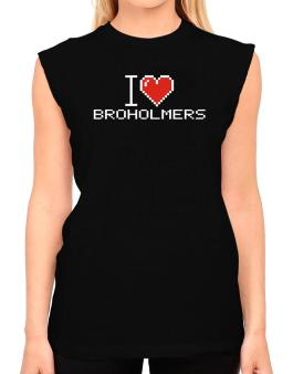 I love Broholmers pixelated T-Shirt - Sleeveless-Womens