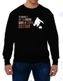 To Curling Or Not To Curling, What A Stupid Question! Sweatshirt