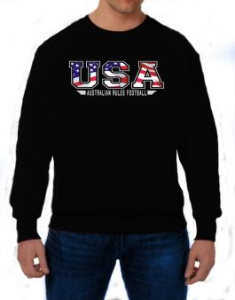 Usa Australian Rules Football / Flag Clip - Army Sweatshirt
