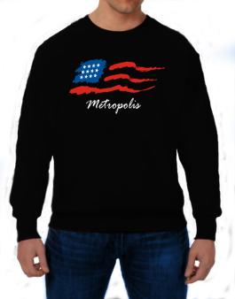 Metropolis - Us Flag Sweatshirt