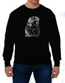 Australian Shepherd Face Special Graphic Sweatshirt