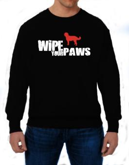 Wipe Your Paws - Labradoodle Silhouette Sweatshirt