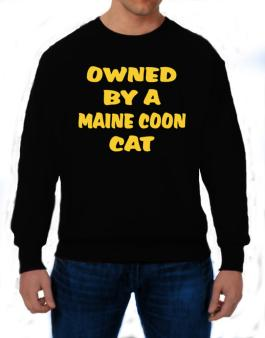 Owned By S Maine Coon Sweatshirt