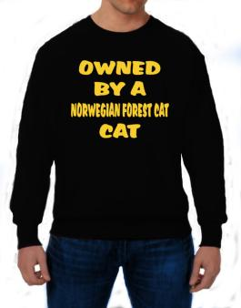 Owned By S Norwegian Forest Cat Sweatshirt