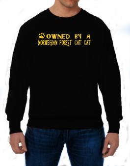 Owned By A Norwegian Forest Cat Sweatshirt