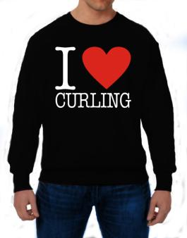 I Love Curling Classic Sweatshirt