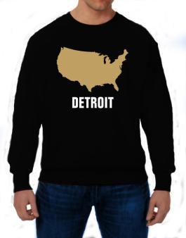 Detroit - Usa Map Sweatshirt