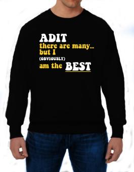 Adit There Are Many... But I (obviously) Am The Best Sweatshirt