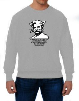 Mark Twain Cat Quote - Altered Sweatshirt