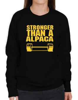 Stronger Than An Alpaca Sweatshirt-Womens