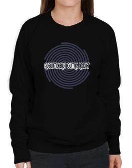 Acoustic Bass Guitar Addict Sweatshirt-Womens