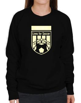 Amadeus Lives For Soccer Sweatshirt-Womens