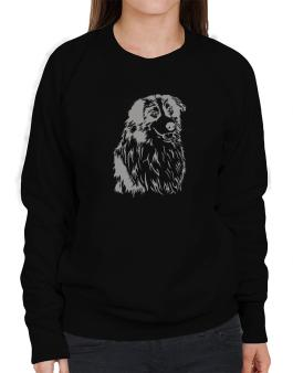 Australian Shepherd Face Special Graphic Sweatshirt-Womens
