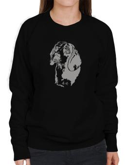 Beagle Face Special Graphic Sweatshirt-Womens