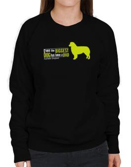 Even The Biggest Dog Has Been A Pup - Australian Shepherd Sweatshirt-Womens