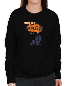Owned By A Beagle Sweatshirt-Womens