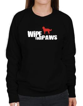 Wipe Your Paws - Labradoodle Silhouette Sweatshirt-Womens