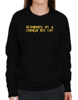 Owned By A Cornish Rex Sweatshirt-Womens