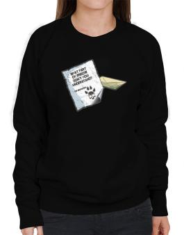 What Part Of Meow Dont You Understand? - Abyssinian Letter Sweatshirt-Womens