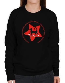 If I Want To Hear The Pitter-patter Of Little Feet ... Ill Put Shoes On My Maine Coon Sweatshirt-Womens