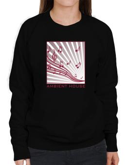 Ambient House - Musical Notes Sweatshirt-Womens