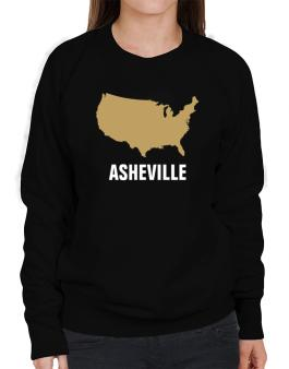 Asheville - Usa Map Sweatshirt-Womens
