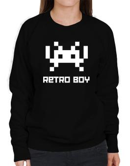 Retro Boy Sweatshirt-Womens
