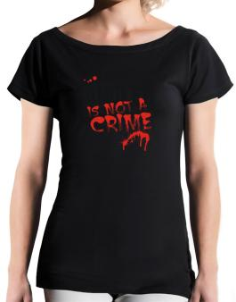 Being A ... Angler Is Not A Crime T-Shirt - Boat-Neck-Womens