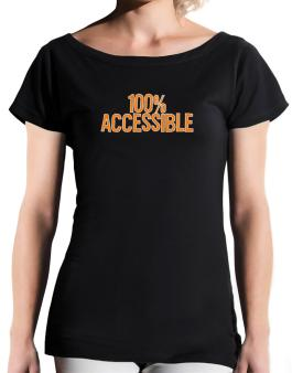 100% Accessible T-Shirt - Boat-Neck-Womens