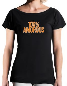 100% Amorous T-Shirt - Boat-Neck-Womens