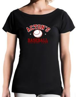Actons Baseball Training Camp T-Shirt - Boat-Neck-Womens