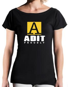 Proud To Be Adit T-Shirt - Boat-Neck-Womens