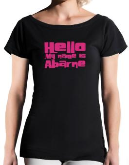 Hello My Name Is Abarne T-Shirt - Boat-Neck-Womens