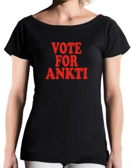 Vote For Ankti T-Shirt - Boat-Neck-Womens