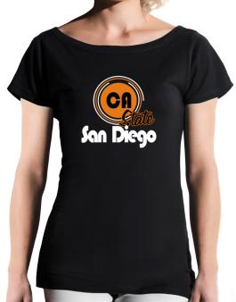 San Diego - State T-Shirt - Boat-Neck-Womens