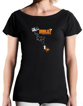Hardstyle It Makes Me Feel Alive ! T-Shirt - Boat-Neck-Womens