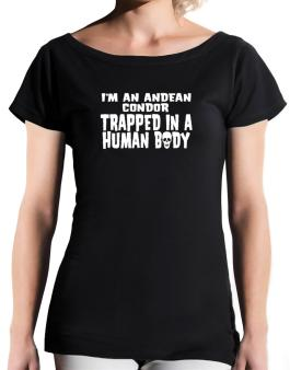 I Am Andean Condor Trapped In A Human Body T-Shirt - Boat-Neck-Womens