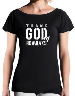 Thank God For Bombays T-Shirt - Boat-Neck-Womens