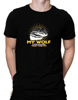 My Wolf Is More Intelligent Than Your Pet Men T-Shirt