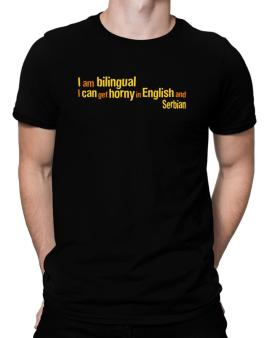 I Am Bilingual, I Can Get Horny In English And Serbian Men T-Shirt