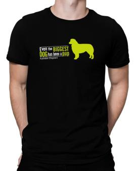 Even The Biggest Dog Has Been A Pup - Australian Shepherd Men T-Shirt