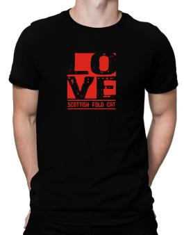 Love Scottish Fold Men T-Shirt
