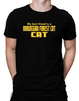 My Best Friend Is A Norwegian Forest Cat Men T-Shirt
